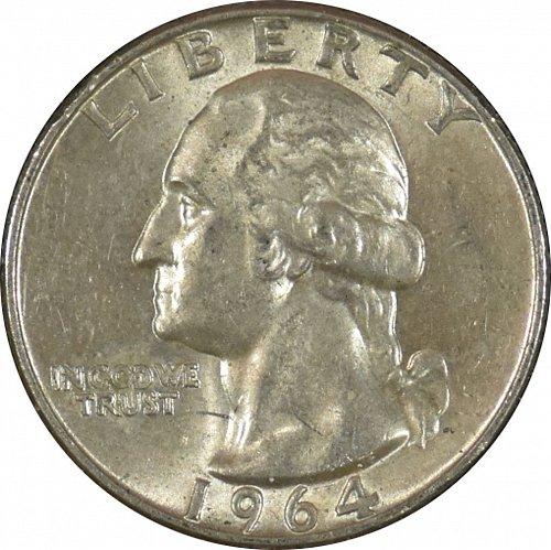 1964 D Washington Quarter,  (Item 344)