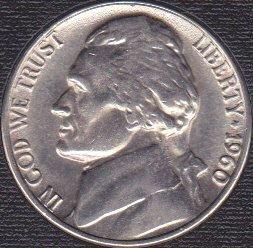 1960 P Jefferson Nickel
