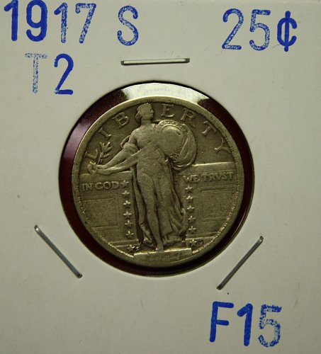 1917 S T2 STANDING LIBERTY QUARTER