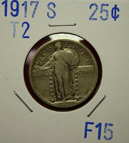 1917 S T2 STANDING LIBERTY QUARTER