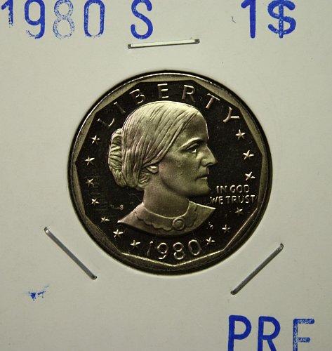 1980 S Susan B. Antony Dollar $1