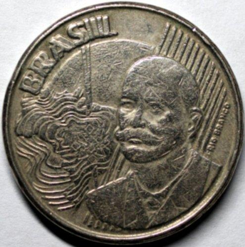 Brazil 1998 Doubled Die Obverse 50 Cents