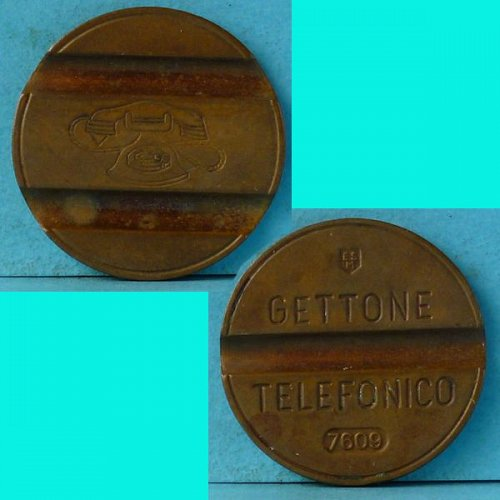 Italy Telephone Token dated Sep 1976 (7609) Telefonico Gettone