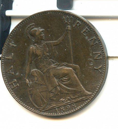 1898 English Half penny