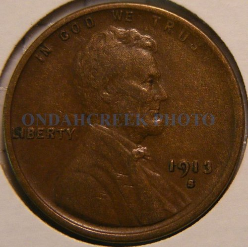 1913-S Lincoln Cent VF