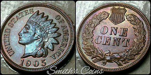 1905 Indian Head Cent  ~ BU