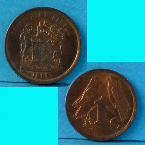 South Africa 1 Cent 1996 km 158
