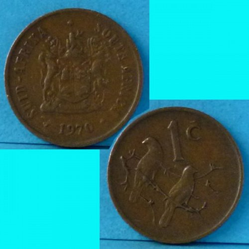 South Africa 1 Cent 1970 km 82