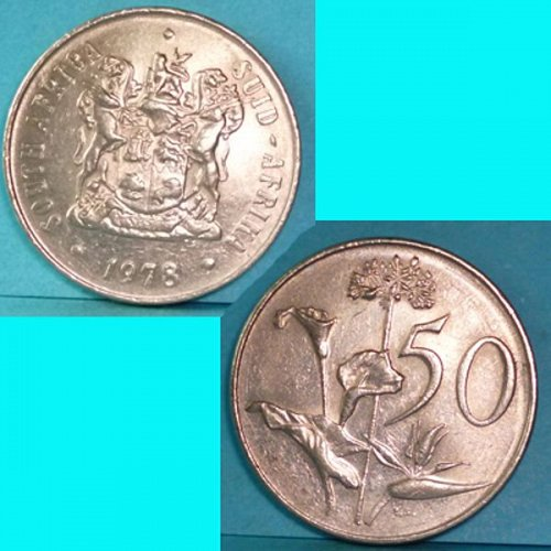 South Africa 50 Cents 1978 km 87
