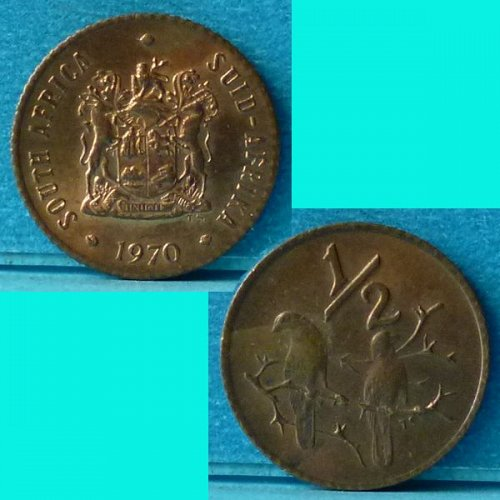 South Africa 1/2 Cent 1970 km 81