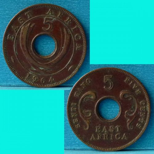 East Africa 5 Cents 1964 km 39