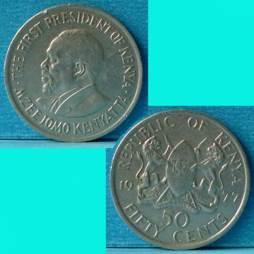 Kenya 50 Cents 1977 km 13