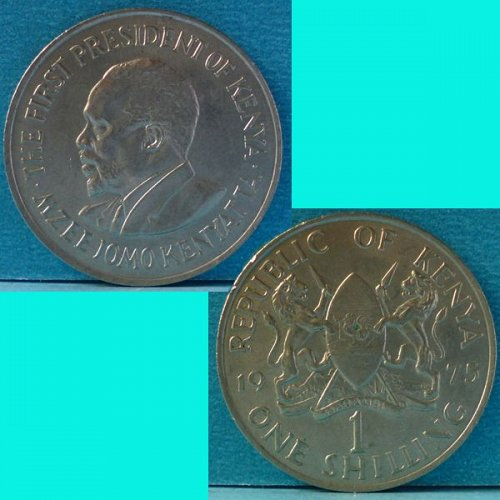 Kenya 1 Shilling 1975 km 14