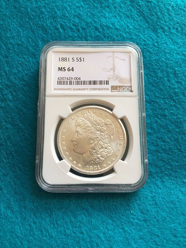 1881-S Morgan Silver Dollar MS64