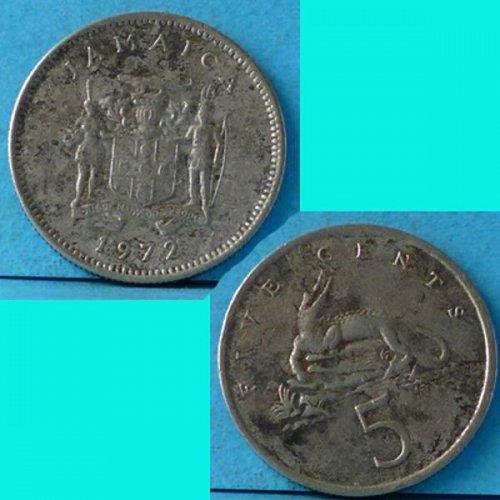 Jamaica 5 Cents 1972 km 53