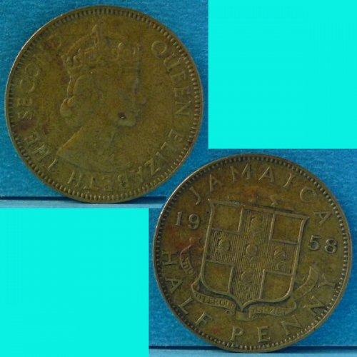Jamaica 1/2 Penny 1958 km 36