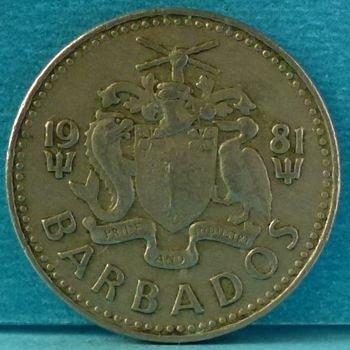 Barbados 25 Cents 1981 km 13