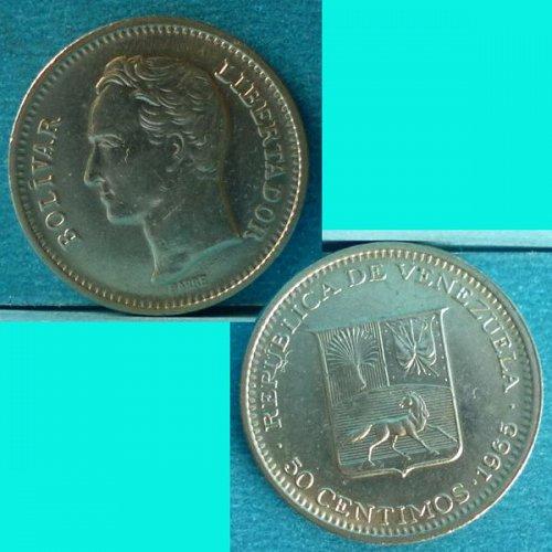 Venezuela 50 Centimos 1965 Y41