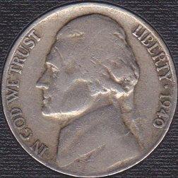 1940 S Jefferson Nickel