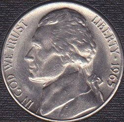 1965 P Jefferson Nickel