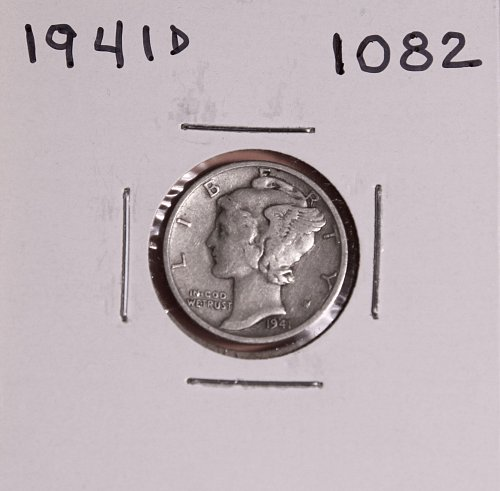 1941 D MERCURY DIME #1082