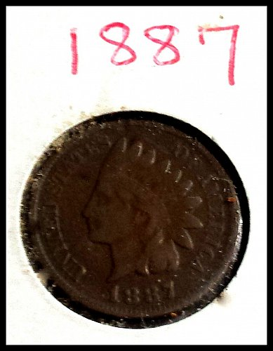 1887 P Indian Head Cent Small Cent