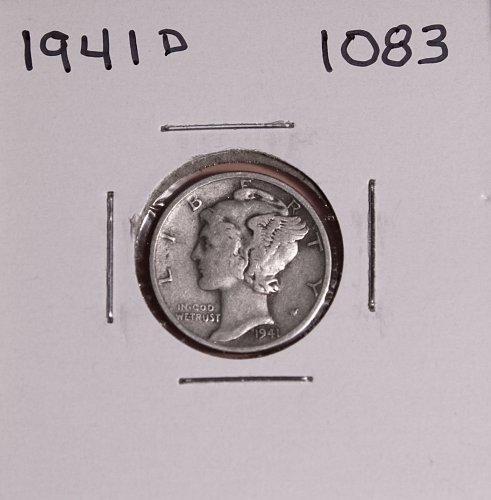 1941 D MERCURY DIME #1083