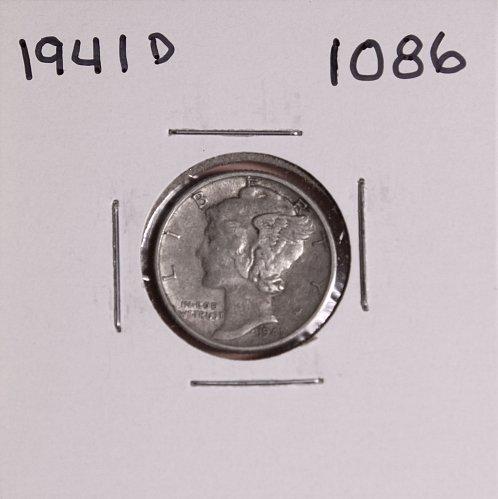 1941 D MERCURY DIME #1086