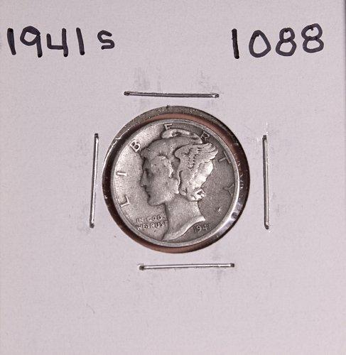 1941 S MERCURY DIME #1088