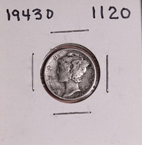 1943 D MERCURY DIME #1120