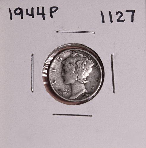 1944 P MERCURY DIME #1127