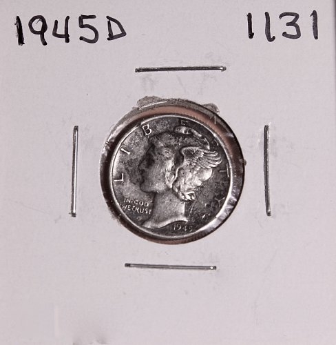 1945 D MERCURY DIME #1131
