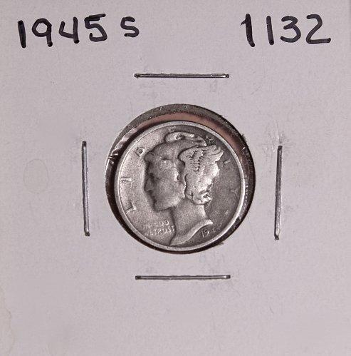 1945 S MERCURY DIME #1132