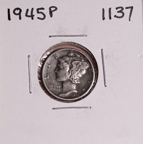 1945 P MERCURY DIME #1137