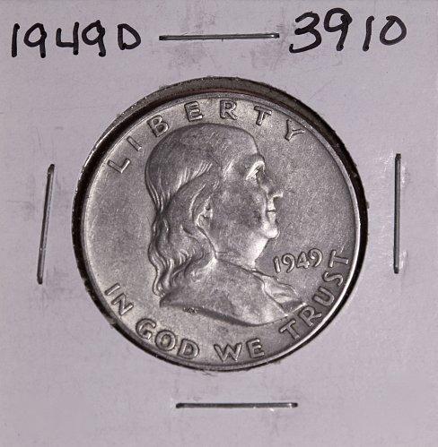 1949 D FRANKLIN HALF DOLLAR #3910