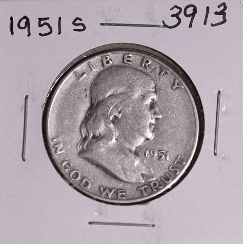 1951 S FRANKLIN HALF DOLLAR #3913