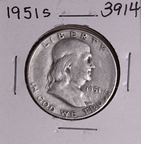 1951 S FRANKLIN HALF DOLLAR #3914