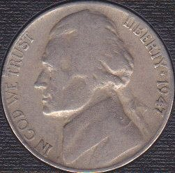 1947 S Jefferson Nickel