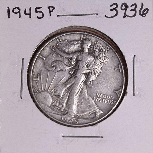 1945 P WALKING LIBERTY HALF DOLLAR #3936