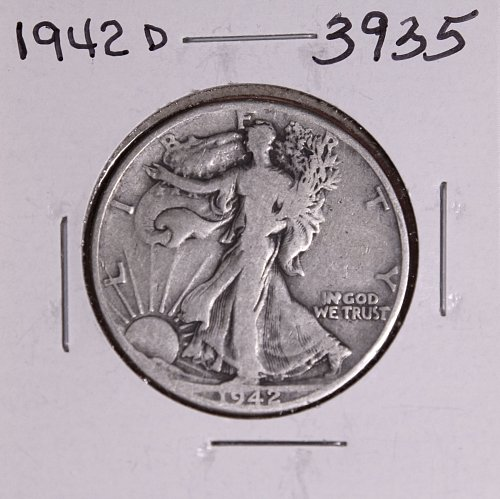1942 D WALKING LIBERTY HALF DOLLAR #3935