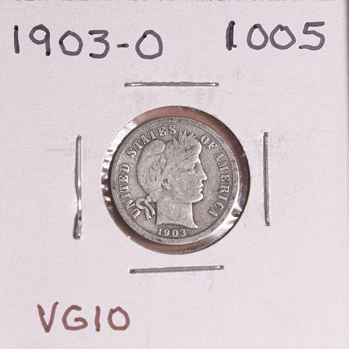 1903-O BARBER DIME #1005