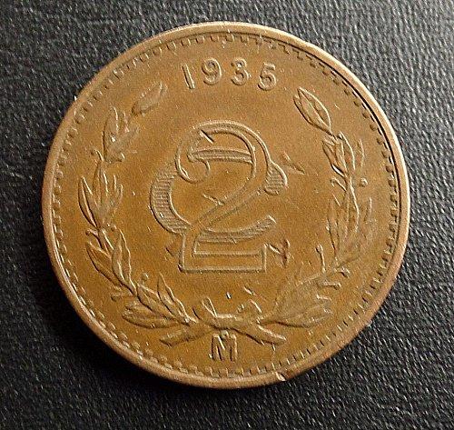 1935 MEXICO 2 CENTAVOS