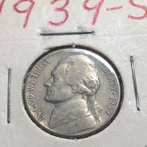 1939 S Jefferson nickel