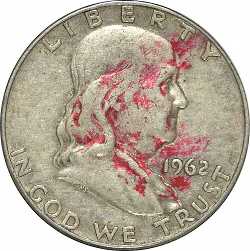 1962 D Franklin Half Dollar, (Item 327)