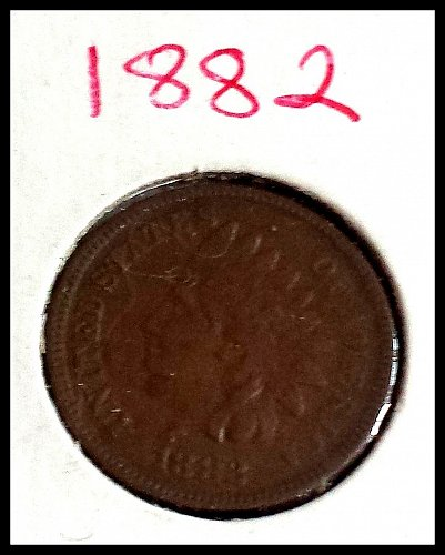 1882 P Indian Head Cent Small Cent