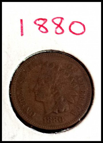 1880 P Indian Head Cent Small Cent