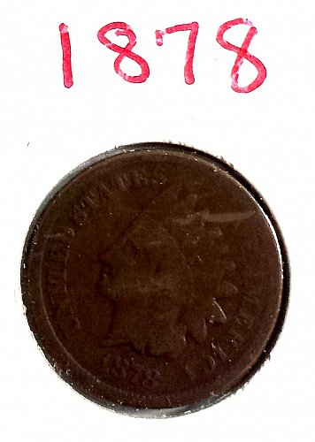 1878 P Indian Head Cent Small Cent