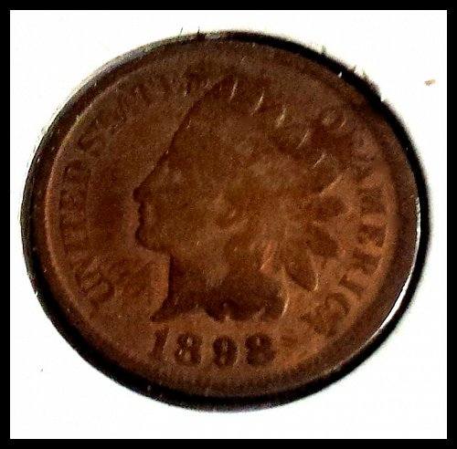 1898 P Indian Head Cent Small Cent