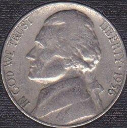 1956 P Jefferson Nickel