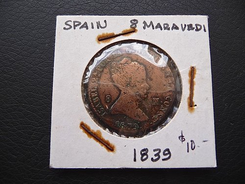 Spain  1839  8 Maravedi